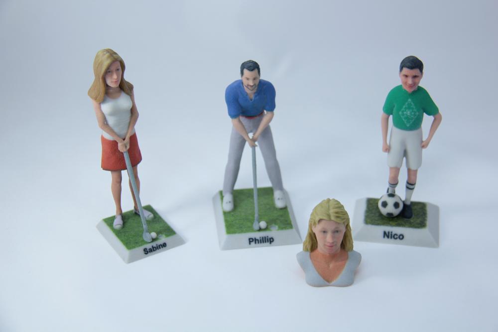3D Figur Bild Kopf Golf Fußball Büste