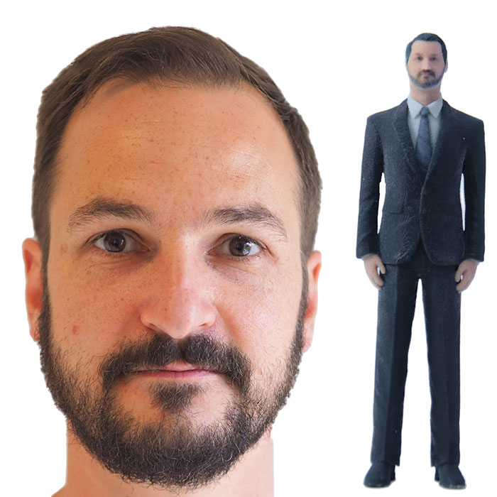 3D Figur Bräutigam Vergleich Foto Figur